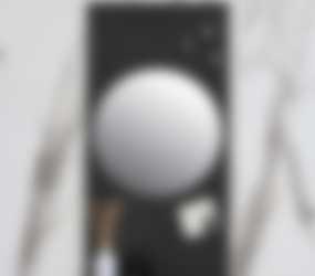 Baderie - fonteinplanchet van staal mat zwart
