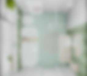 Kleine badkamer_groen_bovenaanzicht