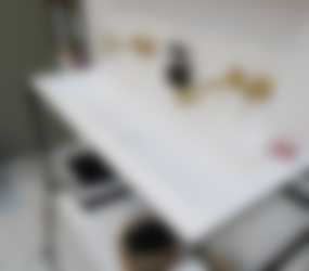 Baderie - Howard mat wit badkamermeubel met gouden kraan