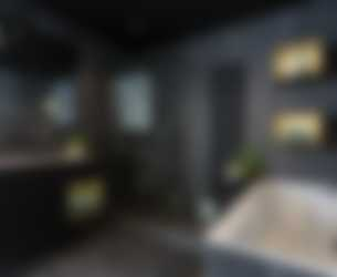 Luxe badkamer met spanplafond