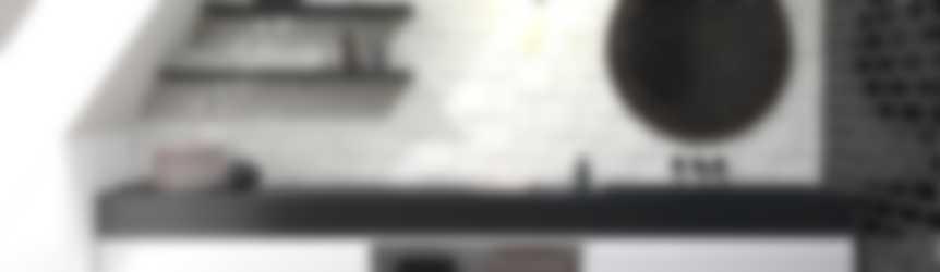 Baderie - zwart wastafelblad