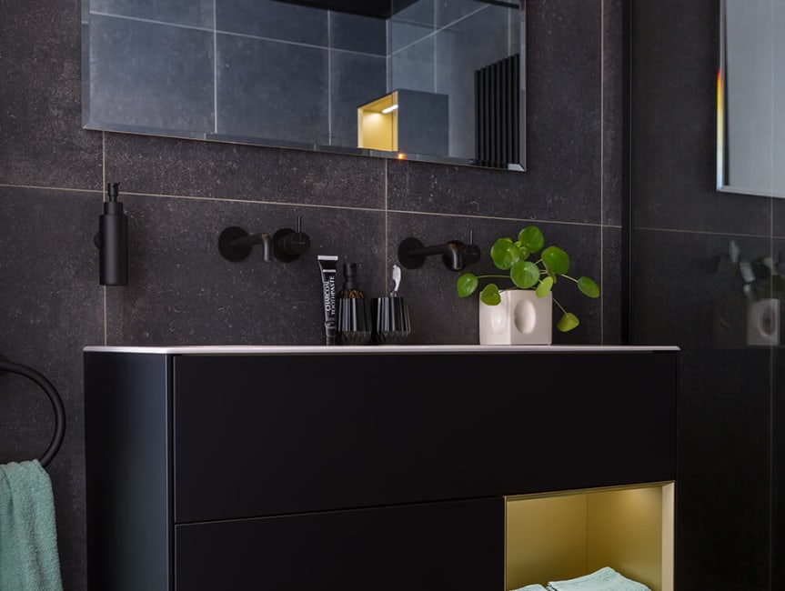 Baderie - zwart badkamermeubel