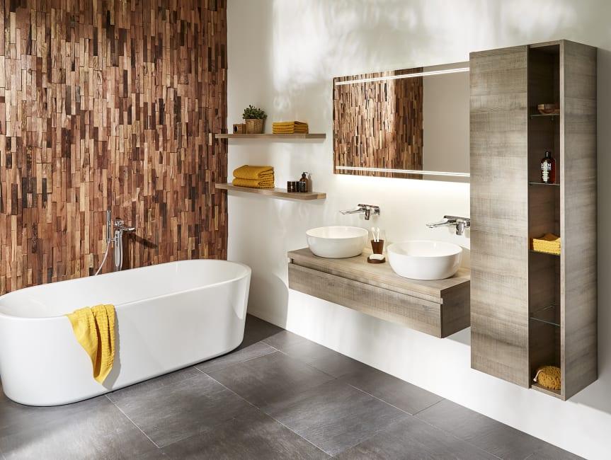 Baderie - Hout in de badkamer