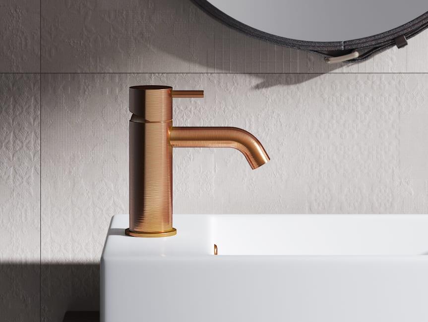 Baderie - Hotbath Brushed Copper wastafelkraan