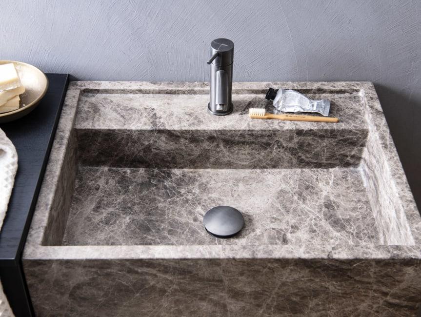 Marmer in je badkamer
