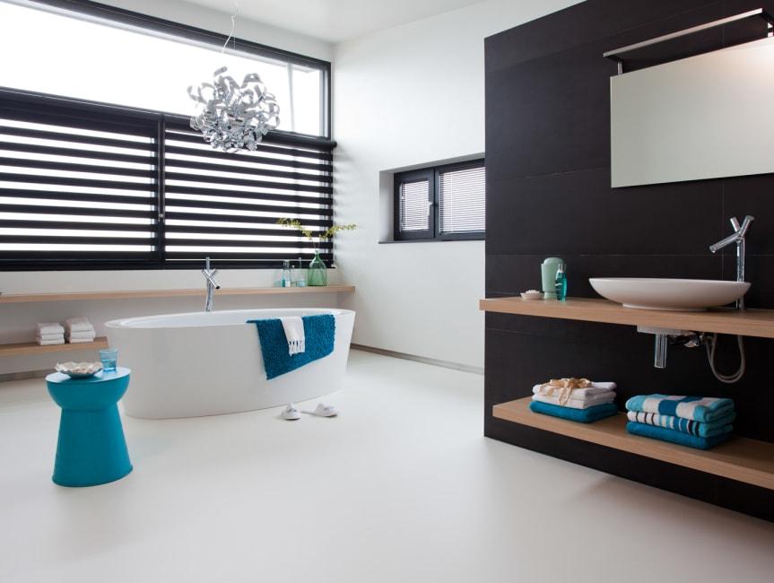 Moderne en strakke badkamer