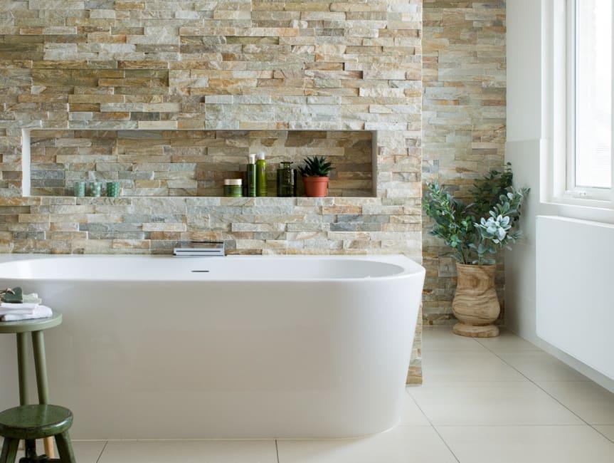 Badkamer in natuurlijke stijl