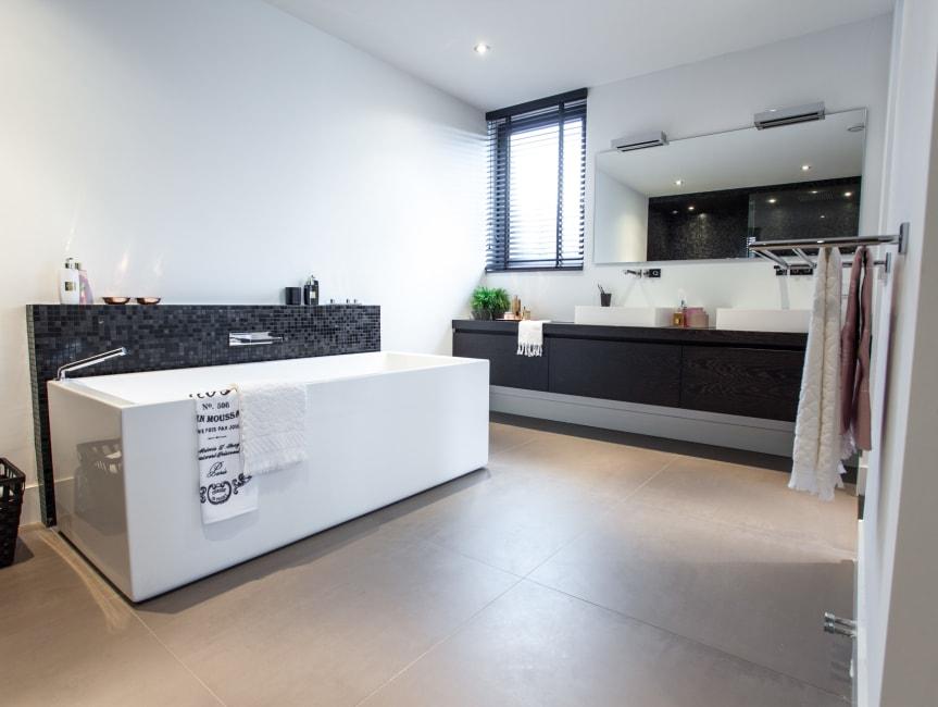 Sfeervolle design badkamer