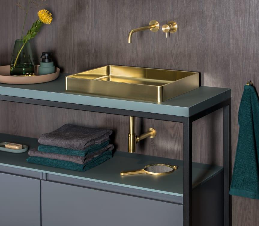 Baderie - gouden waskom