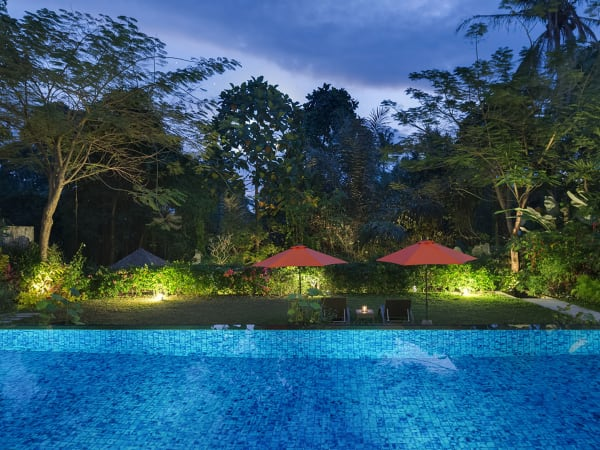 Villa Shinta Dewi Ubud - Garden lights