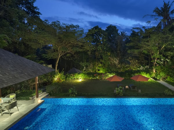 Villa Shinta Dewi Ubud - Evening outlook