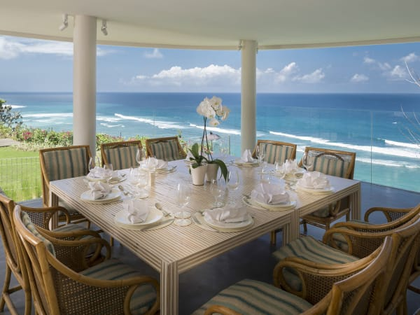 Pandawa Cliff Estate - Villa Markisa - Ultimate dining with a view