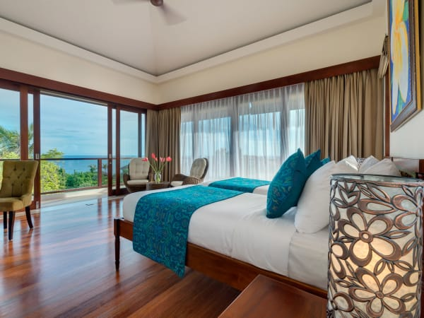 Pandawa Cliff Estate - Villa Rose - Upstairs twin bedroom