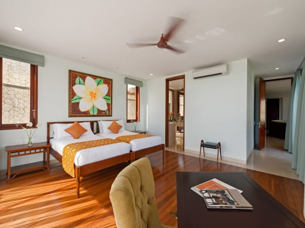 Pandawa Cliff Estate - Villa Rose - Downstairs twin bedroom