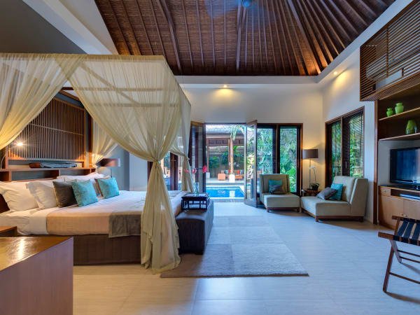 4. Lakshmi Villas - Toba - Bedroom one view to pool