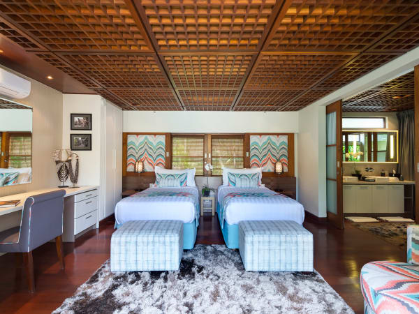 Villa Windu Sari - Guest bedroom one with beds as twins