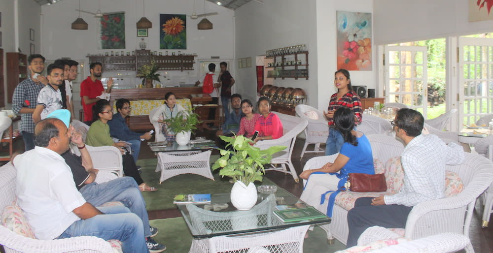 Darshana giving a brief on Balipara Foundation
