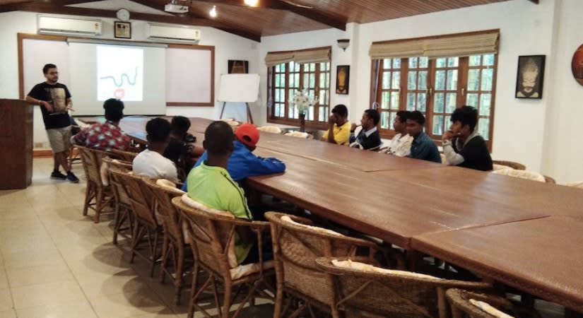 Snake awareness programme with local youth