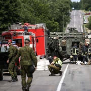 Lithuania: 13 soldiers injured in collision of US Army armored personnel carriers