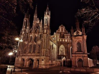 Vilnius in der Nacht