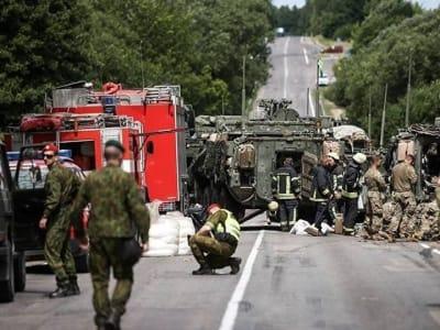 Litauen: Nato-Schützenpanzer-Unfall