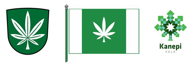 Kanepi führt Flagge mit Cannabisblatt ein