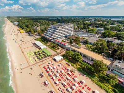 Das Städtchen Jurmala mit seinem Sandstrand – ein Tummelplatz für russische Oligarchen. Foto: BR Archiv