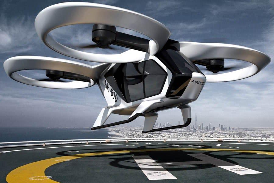 Der CityAirbus, ein batteriebetriebenes Elektroluftfahrzeug für den Passagiertransport der Zukunft. (© Messe Berlin/Airbus)