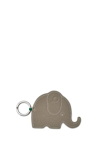 Leather Elephant Keyring