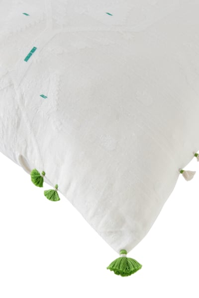 Green Jamdani Cushion