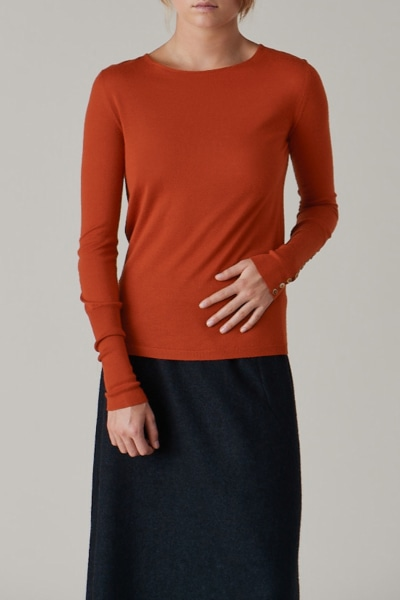 Fitted Button Cuff Sweater