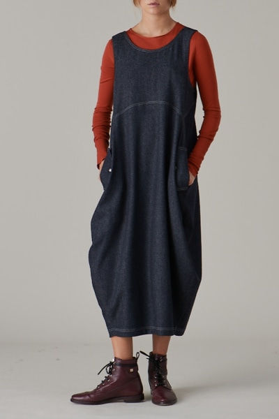 Jean Pinafore Dress