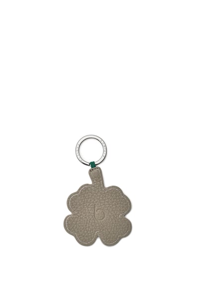 Leather Shamrock Keyring
