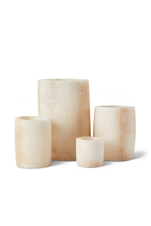 Salt Rock Candle Holders