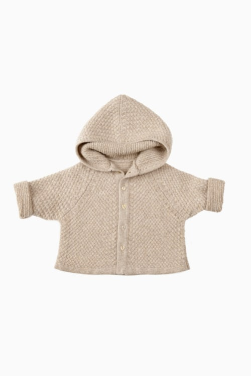 Basketweave Hooded Sweater