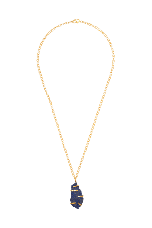 Gold Lapis Necklace