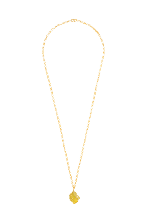 Gold Lemon Topaz Necklace
