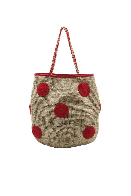 RED DOT BASKET BAG