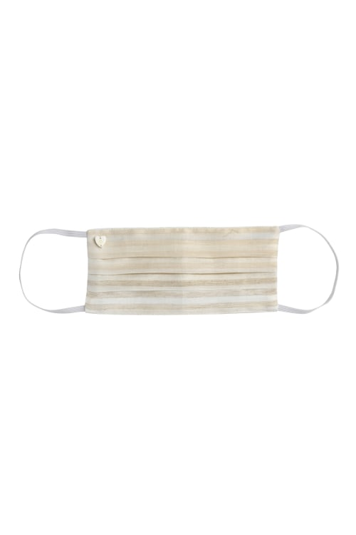 Linen Stripe Face Mask