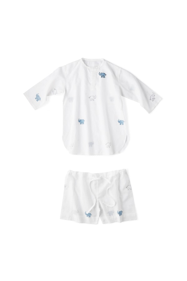 NILA ELEPHANT BLOOMERS AND SLEEP SHIRT