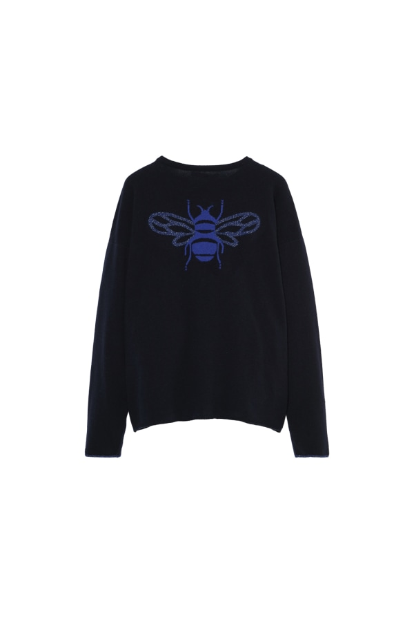 Bumble Bee Knit Navy Back 1 web