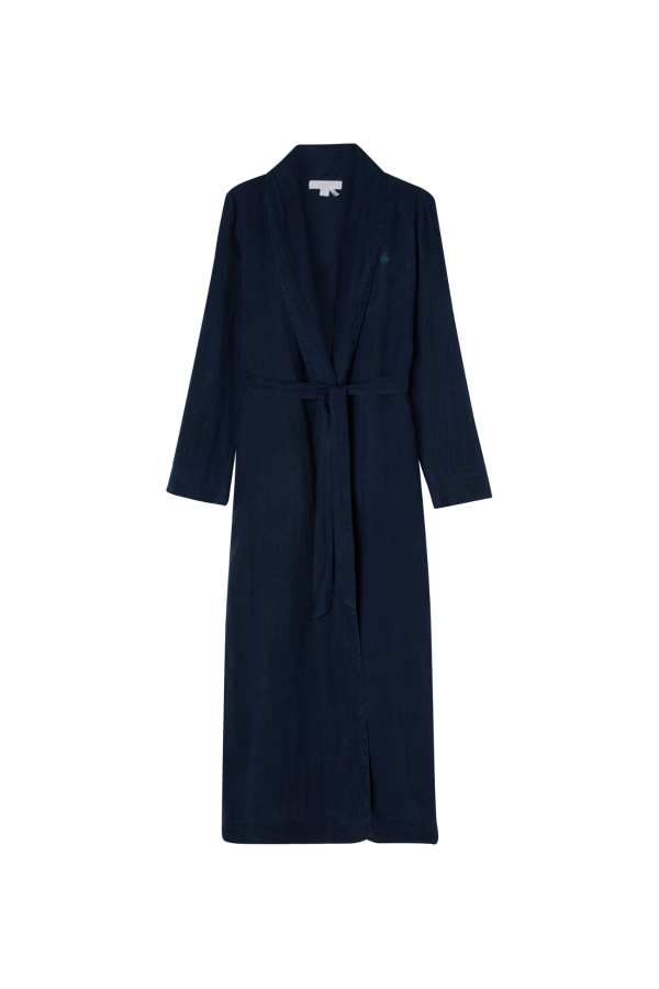 DRESSING GOWN NAVY FRONT