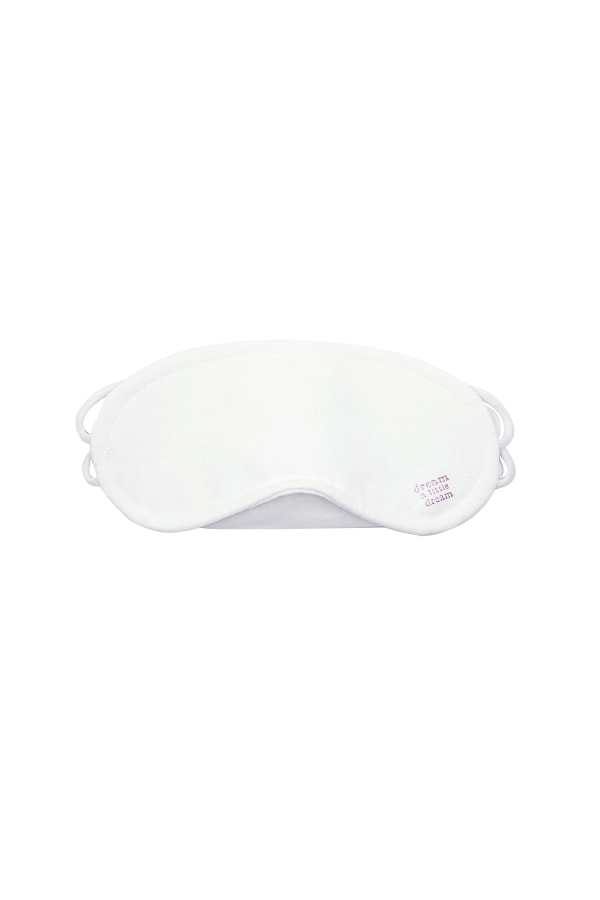 Bamford | White Linen Eye Mask