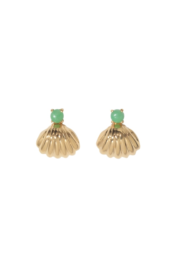 Shell-earrings green