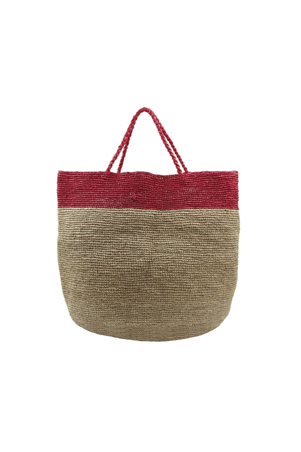 RED TONE BASKET BAG