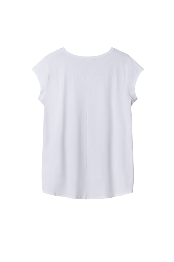 Drape Tee Short Sleeves back w