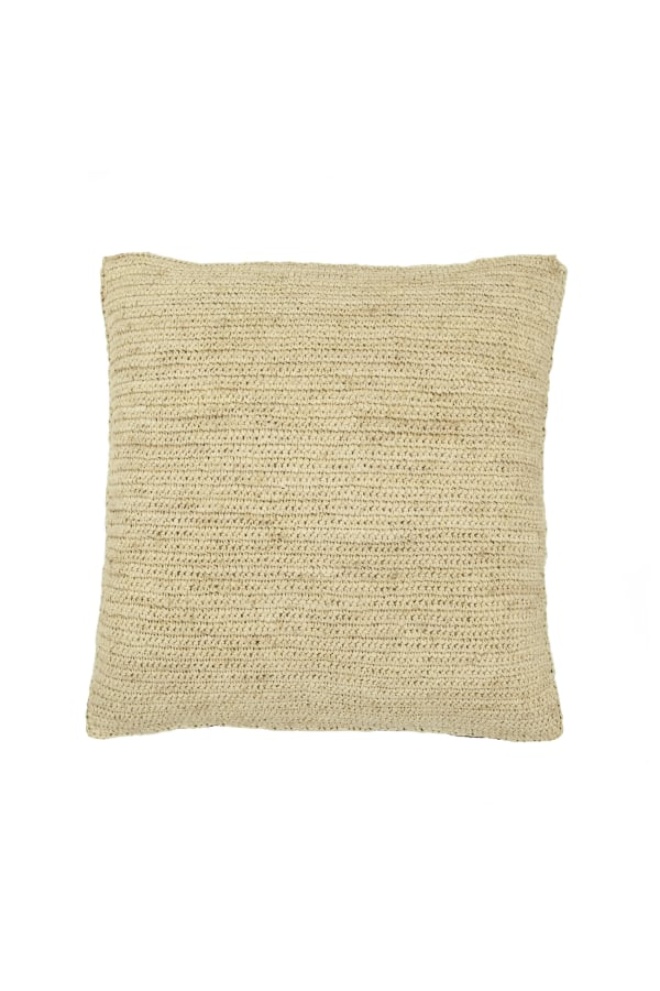 RAFFIA RED STRIPE CUSHION back