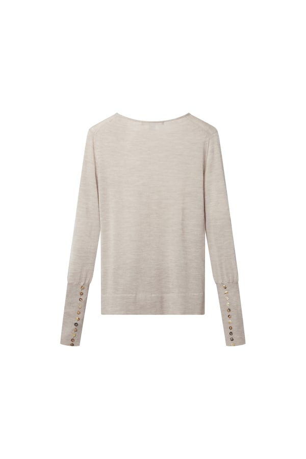 Bamford | Button Cuff Sweater Sand