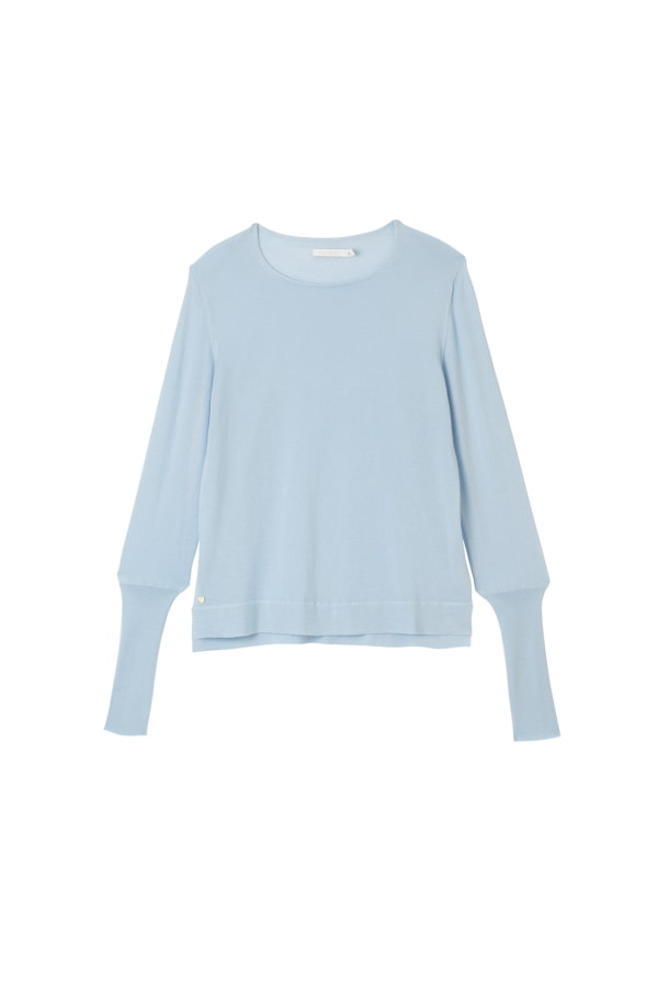 Button-Cuff-Sweater-Bluebell-Front-Product-Web-Optimised