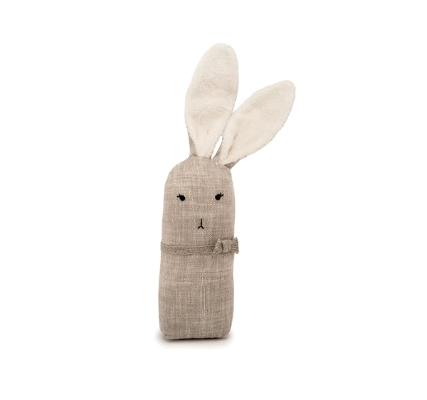 Small Handmade Natural Linen Bunny
